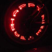 Bicycle Bike Wheel Tire Tyre Spoke Valve Cap Lamp Neon 7 Flash LED Light#