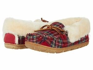 Woman's Slippers L.L.Bean Wicked Good Moccasins Plaid