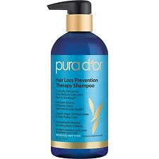 PURA D'OR Dor Hair Loss Prevention Therapy Shampoo Blue Label NEW IMPROVED PUMP