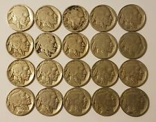 20 Buffalo Indian head Nickels various dates and condition