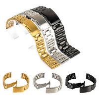 18/20/22/24mm Edelstahl Solid Link Uhren Armband Strap Gerade Ende Werkzeug W9N8