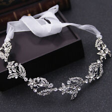 Silver Wedding Hair Vine Crystal Bridal Accessories Diamante Flower Headpiece UK