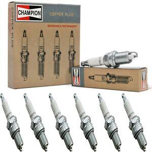 6 pcs Champion Copper Spark Plugs Set for 1955 STUDEBAKER 5E5 L6-2.8L