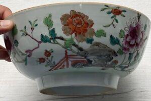 Antique Chinese Bowl Kangxi Yongzheng Period Famille Rose