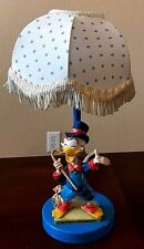VERY RARE Antique Walt Disney Production Scrooge McDuck Figurine lamp - Italy