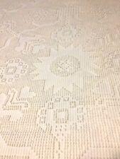 "Vintage Bates Cotton Bedspread Size 86"" X 104"" Candlewick George Washington USA"