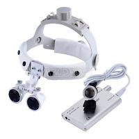 Dental Headband Surgical Medical Binocular Loupes +LED Head Light Lamp
