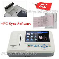 12-lead Digital 6-channel Electrocardiograph ECG/EKG Machine, Touch Screen+SW