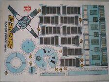 French Satellite Signe 3 Czechoslovak rare Paper Model