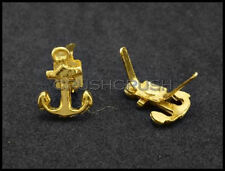 10pcs Gold Anchors Helms Nautical Stud Nailheads Decoration Leather Shoes S262