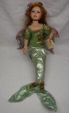 "Florence Maranuk Show Stoppers Fantasia Mermaid Fairy Porcelain Doll 26"" COA&box"