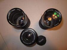 Lot of 3 Camera Lens!