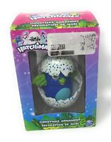 "HATCHIMALS Christmas Ornament 3.5"" Blue & Green Draggle in Speckled Egg - 2017"