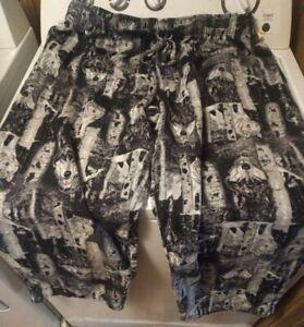 Fruit Of The Loom Sleepwear Men's Wolf soft flannel Lounge Pants Size XL(40-42)