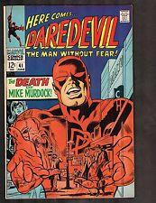 "Daredevil #41 ~ ""Death of Mike Murdock"" / Netflix ~ 1968 (7.5) ~ Wh"