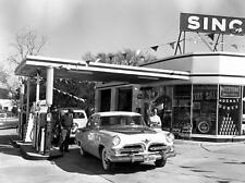 1956 Dodge Royal At Sinclair station for a Fill Up 8 x 10 photograph