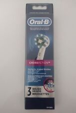 "Oral-B Replacement Brush Heads ""Cross Action"" 3-Pack - Free S&H - Brand New"