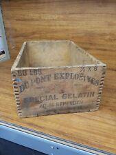 New listing Du Pont Explosives 50 Lbs. Dynamite Wood Box 40% Strength I.C.C.-14 Aug. 1939