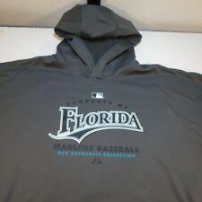 FLORIDA MARLINS BASEBALL MLB HOODIE HOODED SWEATSHIRT XXL Majestic Therma Base