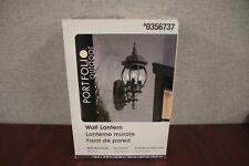 Portfolio Outdoor Wall Lantern Matte Black Finish #FB12-001 - New, Worn Box