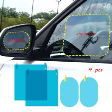 4 Pcs Car Rearview Mirror Film Anti-Rain Fog Waterproof PET Clear Film Accessory