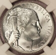 1949-R Italy 5 Lire Coin - NGC MS 66 - KM# 89