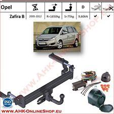 Gancio traino Opel Zafira B 2005-2012 + elettrico 13-poli OMOLOGAZIONE | NUEVO