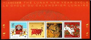 2021 Canada Lunar New Year -  Block from Pane  - # 3 of 3