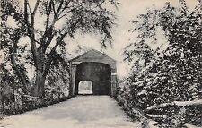 Sheffield Massachusetts Covered Bridge over Housatonic River Antique PC (J18780)