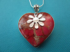 925 Sterling Silver Pendant With Natural Sea Sediment Jasper   (nk1465)