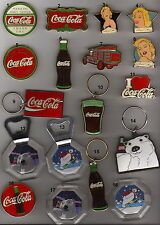 VINTAGe Coca Cola 1990s metal magnets&keyholders each piece has a number no 18