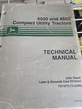 John Deere Technical Manual For 4500 And 4600 Compact Utility Tractor