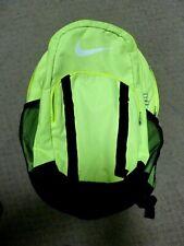 NIKE BLACK & Neon Backpack Adjustable Straps Multiple Pockets