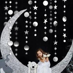 4M Pendant Gold Silver Circle Star Aluminum Foil Ornaments Home Party Decor New