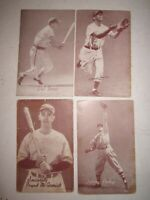 "LOT OF 35 (1940'S) BASEBALL EXHIBIT CARDS - 5 3/8"" X 3 3/8"" - COLLECTIBLE - BN-9"