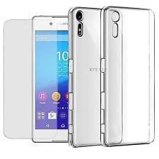 Handy Hülle + Panzerfolie für Sony Xperia Handy Tasche Glasfolie Case Etui