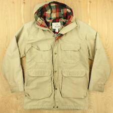 vtg distressed usa made WOOLRICH wool lined parka jacket coat MEDIUM beige