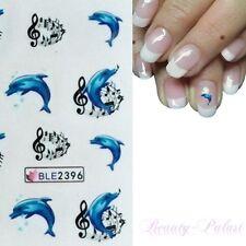 Nagelsticker Delfin-Nagelaufkleber-Nagelfolie Delphin- Nailart StickerB2396
