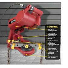 Electric Chain Saw Sharpener w/ Chain Saw Vice Wall / Bench / Vice Mountable
