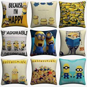 Minions Despicable Me Movie Cushion Cover Sofa  Home Decor Pillowcase Almofada