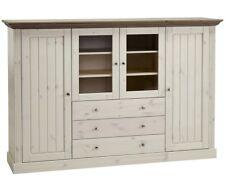 STEENS Massivholz Vitrine MONACO Landhaus Kiefer White Wash Stone B 187 cm