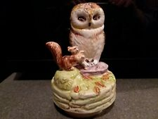 Owl and Squirrel Figurine Music Box