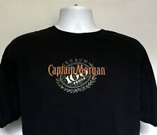 Captain Morgan 100 Proof Spiced Rum T Shirt Mens XL Raised Logo