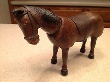 Vintage Antique Schoenhut Wooden Circus Horse Humpty Dumpty W/ Saddle Bridle