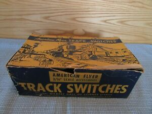 American Flyer #720A Remote Control Track Switches with 730 Track Bumpers, O.B.