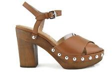 COACH Viola Platform Womens Heels Shoes,Saddle Soft Vegan Leather,New,8.5B,0421