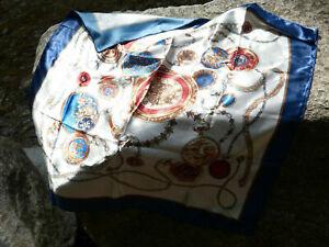 Elegantes Halstuch / Kopftuch Schal Mundschutz mit zierlichem Uhren-Muster