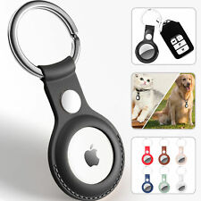 AirTag Case For Apple Air Tag Cover Tracker PU LEATHER Car Key Chain Ring Holder