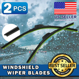 Windshield Wiper Blades Premium Silicone For 2014-2018 Acura RLX