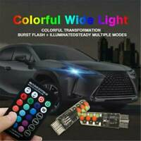 T10 W5W 5050 2x 6SMD RGB LED Remote Control Multi Color Light Car Wedge Bulb